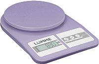 Кухонные весы Lumme LU-1345 (лиловый аметист) -