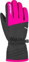 Перчатки лыжные Reusch Alan Junior / 4861115 720 (р-р 5.5, Black/Pink Glo) -