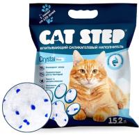 Наполнитель для туалета Cat Step Crystal Blue / 20363004 (15.2л) -