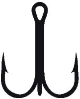 Крючок рыболовный KAMATSU Treble Hook Round K-077 № 08 / 514400308 (20шт) -