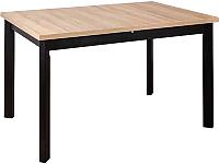Обеденный стол Drewmix Max 5 P (дуб грендсон/черный) -