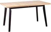 Обеденный стол Drewmix Oslo 5 (дуб грендсон/черный) -