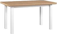 Обеденный стол Drewmix Wenus 2 S (дуб натуральный/белый) -