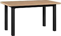 Обеденный стол Drewmix Wenus 2 S (дуб натуральный/черный) -