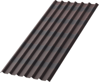 Лист кровельный Onduline Tile x5 SR-130 с тенью 3D (1950x960, коричневый) -