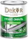 Эмаль Dekor Sprint 3 в 1 быстросохнущая (900г, серый) -