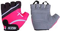 Перчатки велосипедные STG Х61872-Л (L, черный/розовый) -