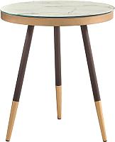 Журнальный столик Signal Vega C (мраморный эффект/черный) -