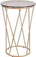 Журнальный столик Седия Allure 40x60 (стекло/золото) -