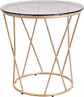 Журнальный столик Седия Allure 50x50 (стекло/золото) -