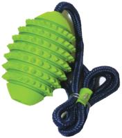 Игрушка для собак Rosewood Мяч регби игольчатый на веревке / 20065/RW -