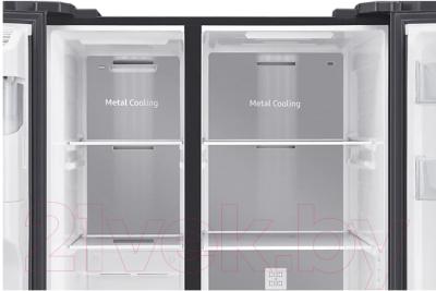Холодильник с морозильником Samsung RS64R5331B4/WT
