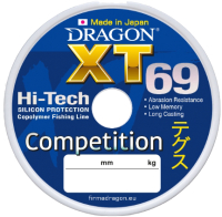Леска монофильная Dragon XT 69 Competition 0.14мм 125м / 33-20-014 -