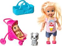 Кукла с аксессуарами Bondibon OLY на прогулке с собачками / ВВ3987 -