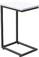 Приставной столик Millwood Art-1.1 Л 30x40x60 (дуб белый Craft/металл черный) -