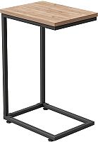 Приставной столик Millwood Art-1.1 Л 30x40x60 (дуб табачный Craft/металл черный) -