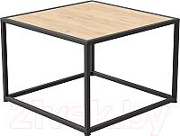 Журнальный столик Millwood Art-3.2 Л 65x65x60 (дуб золотой Craft/металл черный) -