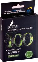 Пилинг для лица Sativa №100 активный энзимный -
