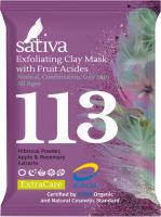 Маска для лица сухая Sativa №113 маска-гоммаж с фруктовыми кислотами -