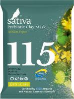 Маска для лица сухая Sativa №115 минеральная с пребиотиком -