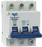 Выключатель автоматический ETP BA 47-63 3P 10A (B) -