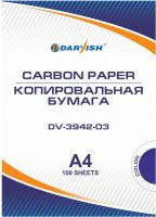 Бумага копировальная Darvish DV-3942-03 (100л, синий) -