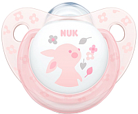 Пустышка NUK Baby Rose Ортодонтической формы / 10730274 (силикон, р.1) -