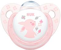 Пустышка NUK Baby Rose Ортодонтической формы / 10736327 (силикон, р.2) -