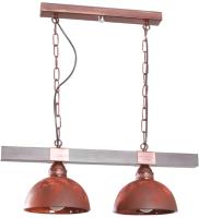 Потолочный светильник N&B Light Вириони 40303 (медь/патина/дерево) -