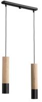 Потолочный светильник N&B Light Глейз 40588 (черный/дерево/ясень) -