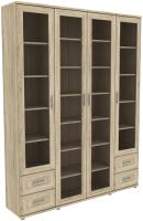 Шкаф с витриной Уют Сервис Гарун-К 504.08 (дуб сонома) -
