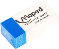 Ластик Maped Technic Duo / 511710 (белый/голубой) -