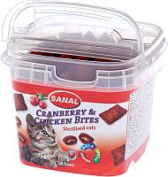 Лакомство для кошек Sanal Cranberry&Chicken Bites / 1578SC (75г) -