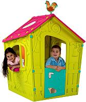 Домик Keter Magic Playhouse / 231596 (зеленый/малиновый/бирюзовый) -