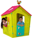 Домик для детской площадки Keter Magic Playhouse / 231596 (зеленый/малиновый/бирюзовый) -