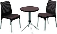 Комплект садовой мебели Keter Chelsea Set / 230678 (коричневый) -