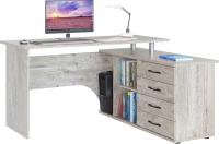 Компьютерный стол Сокол-Мебель КСТ-109 (правый, дуб юкон) -