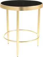 Журнальный столик Signal Mystic C (черный/золотой матовый) -