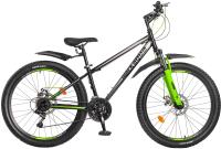 Велосипед Black Aqua Cross 1661 D+ 26 GL-336 (черный/зеленый) -