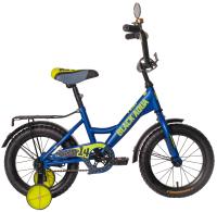 Детский велосипед Black Aqua Fishka 16 KG1627 со светящимися колесами (синий) -