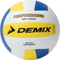 Мяч волейбольный Demix VLPU3020D (р-р 5, белый/желтый/синий) -