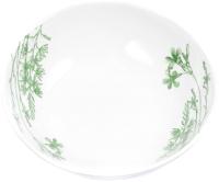 Тарелка столовая глубокая Белбогемия Соната. Гербарий-травы Зеленый 062 / 89457 -