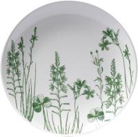 Тарелка закусочная (десертная) Белбогемия Соната. Гербарий-травы Зеленый 061 / 89449 -