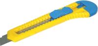 Нож канцелярский Donau 7946001-99 (18мм, желтый/синий) -