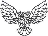 Декор настенный EWA Сова -
