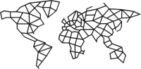 Декор настенный EWA Карта мира -