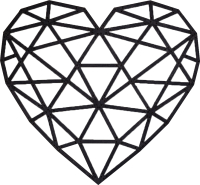 Декор настенный EWA Сердце -