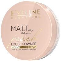 Пудра рассыпчатая Eveline Cosmetics Matt My Day Loose Powder Peach (6г) -