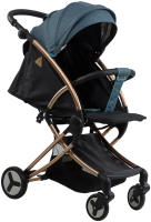 Детская прогулочная коляска Aimile Summer Gold / FPG-7 (синий/черный) -