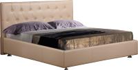 Двуспальная кровать ФорестДекоГрупп Софи-3 200x180 (кремовый) -